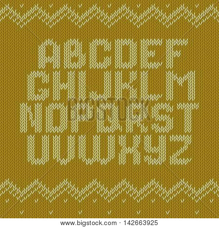 Knitted Alphabet On Vector Photo Free Trial Bigstock