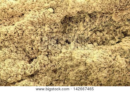 Sulfur Texture from Volcanic Crater using as background