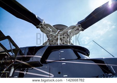 Screw Of Bell 407 Helicopter.