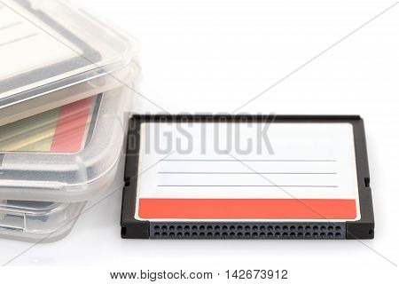 Compact Flash Memory Card And Case