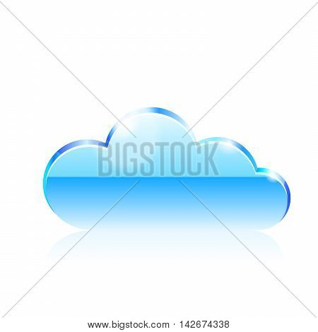 Cloud icon. Vector illustration on white background.