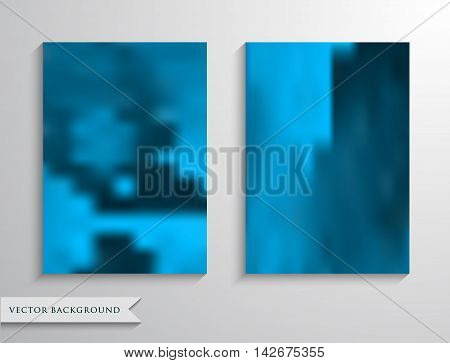 Set blurry backgrounds for creative design. Collection banners, posters, covers in blue tones. A4 size.