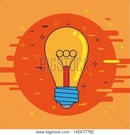 Creative idea image. Business concept light bulb. Vector illustration.