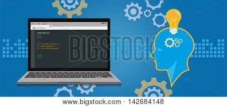programming and coding concept application development illustration