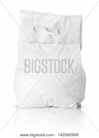 Blank Washing Powder Bag Package On White