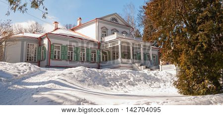 Abramtsevo manor house in Moscow region. Its owners were writer Aksakov, industrialist Mamontov. After 1917, manor was nationalized and turned into museum. Russia, Moscow region, Abramtsevo. March 20, 2016