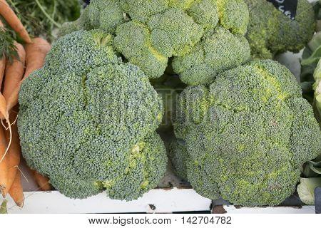 Brocoli in bulk on a rural market.