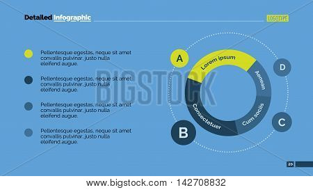 Two parts cycle diagram. Element of graph, presentation, cycle diagram. Concept for business template, infographics, marketing report. Can be used for topics like strategy, marketing, working process