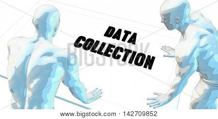 Data Collection Discussion and Business Meeting Concept Art 3D Illustration Render