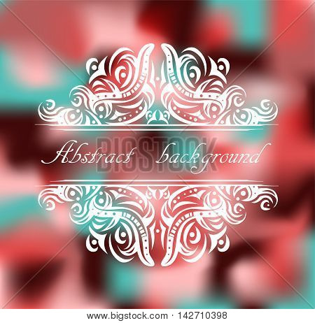 Abstract colorful background with pattern. Illustration 10 version.