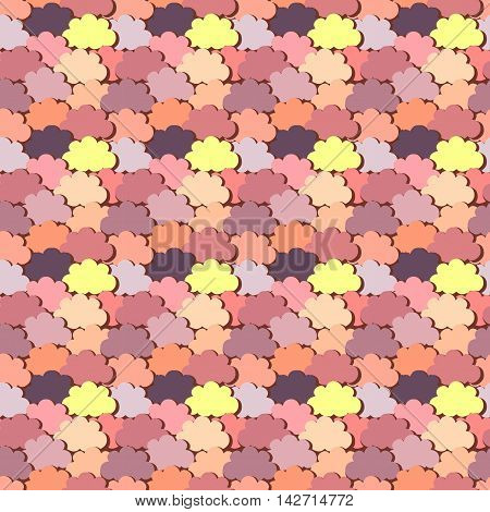 Colorful abstract clouds, seamless pattern, vector illustration