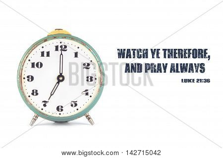 The Clock And The Words From The Bible
