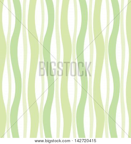 Seamless pattern with green waves.  Soft green background. It can be used for wallpaper, pattern fills, web page background, surface textures.