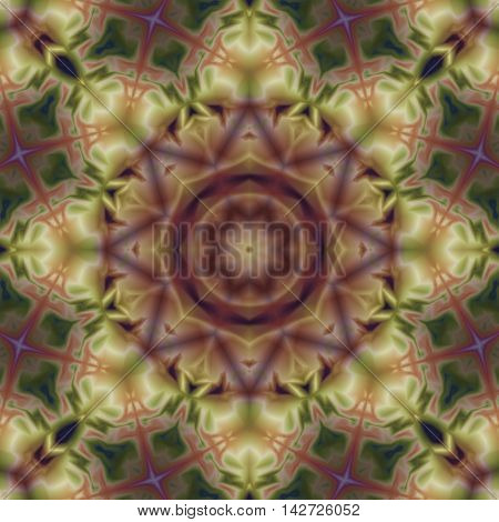 Kaleidoscopic design abstract ornament seamless texture wavy psychedelic pattern background