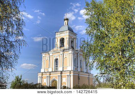 View of Spaso-Preobrazhensky Varlaamo-Khutyn Monastery. Veliky Novgorod, Russia