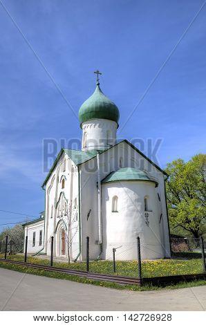 Church of St. John the Evangelist on Vitka river. Veliky Novgorod, Russia