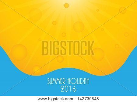 Summer holiday 2016 background Vector illustration eps10