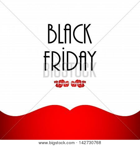 black friday abstract banner with floral design