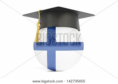 education in Finland concept 3D rendering isolated on white background