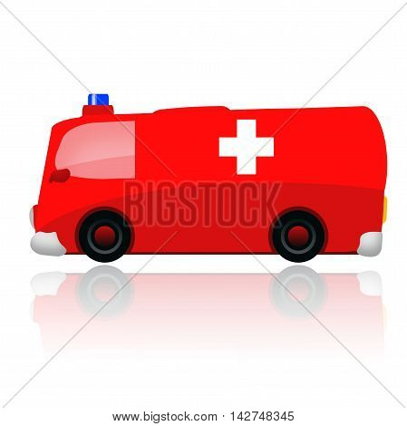 Ambulance car illustration isolated on white background