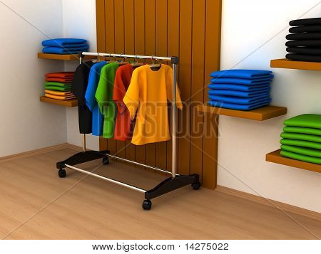 Hanger With Clothes Any Color