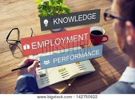 Employment Knowledge Performance Business Career Concept