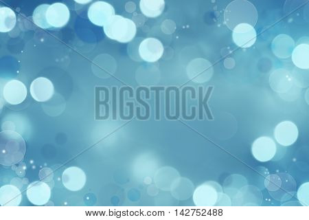 Abstract blue and white circles background