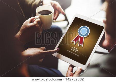 Badge Reward Successful Champion Competition Concept