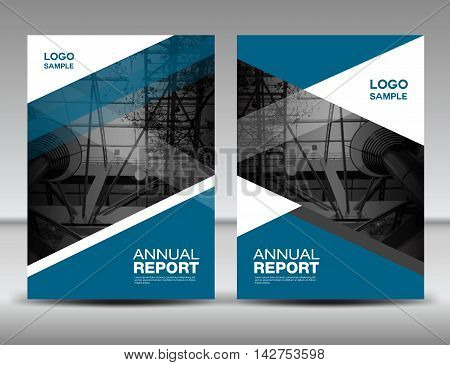 Blue Cover template annual report business brochure flyer magazine covers presentation