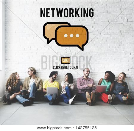 Networking Connection Global Communications Onlnie Concept