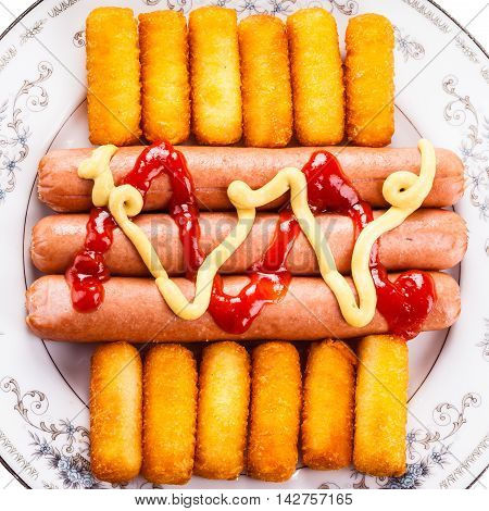 Sausage And Croquettes