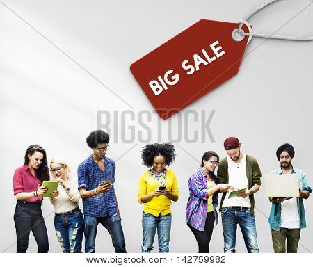 Sale Discount Label Tag Commerce Concept