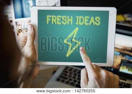 Solution Ideas Imagination Inspiration Concept