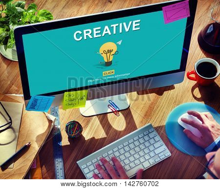 Creative Bulb Ideas Development Thinking Concept