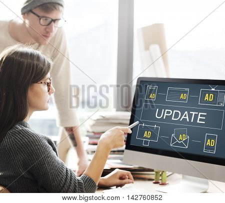 Latest News Update Data Information Communication Concept