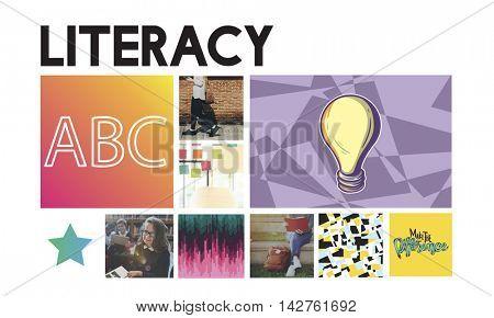 Literacy Improvement Development Creative Concept