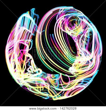 Moving colorful lines of abstract background