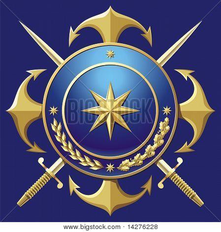 NAVY style badge