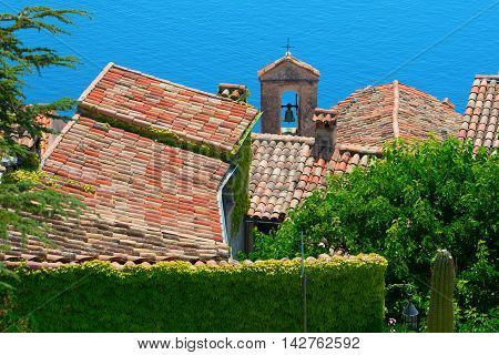 Rooftop View Over The Village Eze, France
