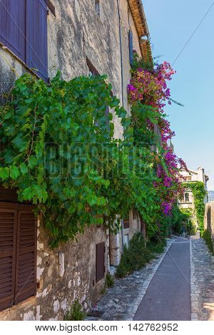 Alley In Saint Paul De Vence, France
