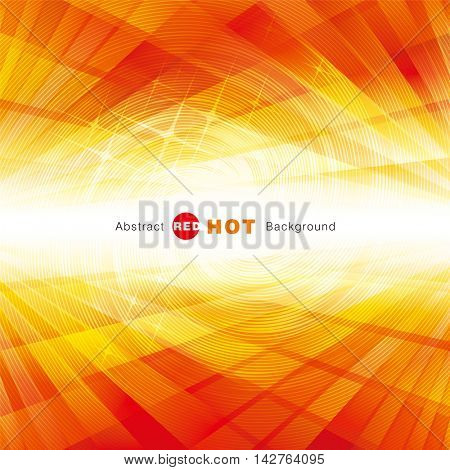 Abstract red hot summer perspective background.