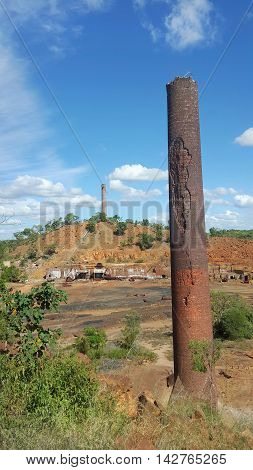 remains of the old chimney of Chillagoe mine
