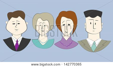 office workers, director, secretary, office, accountant, avatar