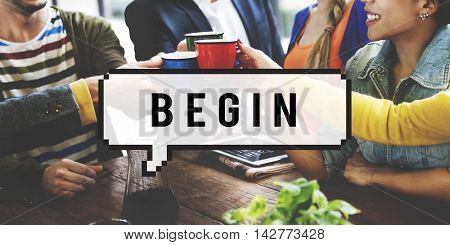 Begin Startup New Business Starting Point Beginning Concept