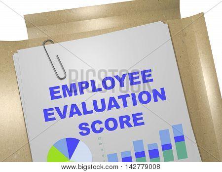 Employee Evaluation Score Concept