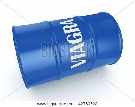 3D Rendering Viagra Blue Barrel