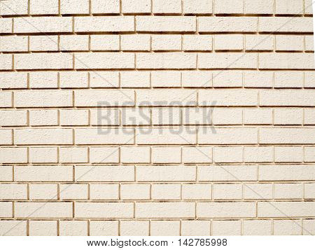 Light color of brick wall of the house