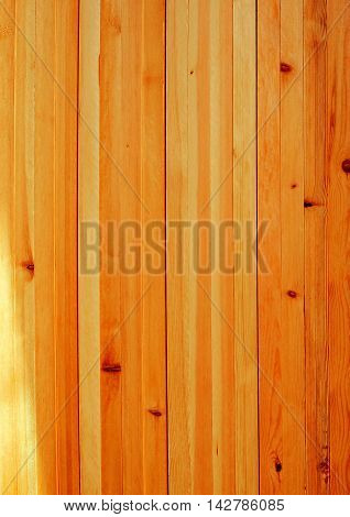 Pattern of wooden wall in the vertical style