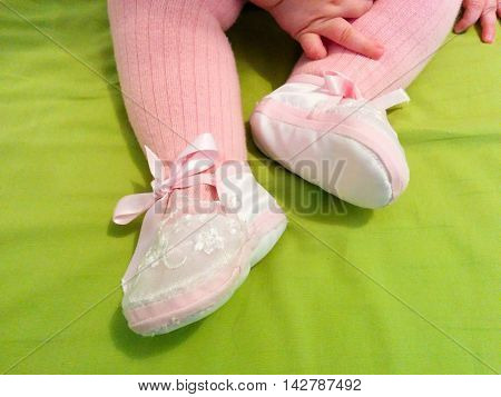 Colorful and small baby clothes, pink girl