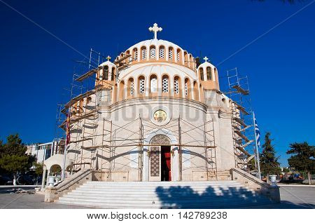 The church of St. Constantine and Helen. Glyfada Greece.